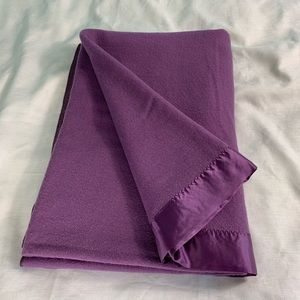 Vintage Faribo Purple Wool Blanket 66 x 94""